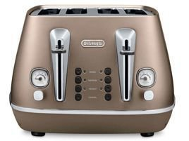 Delonghi CTI4003BZ Distinta Toster, 4 tosty, 1800 W